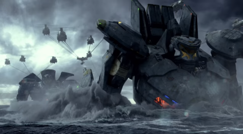 The giant robots from Pacific Rim would probably work...